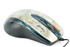 Old computer mouse Royalty Free Stock Images