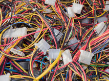 Old computer parts, cables close up scene 5 Royalty Free Stock Image