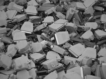 Old computer parts, cables close up scene 7. The image is made from the electronic waste disposal Stock Photography