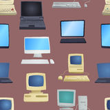 Old computer vector illustration Stock Photography