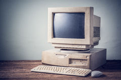 Old computer, vintage Royalty Free Stock Photo