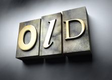 Old concept, vintage letterpress text Royalty Free Stock Photography