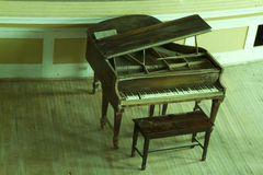 Old concert piano Stock Image