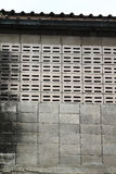 Old concrete block wall Royalty Free Stock Image