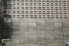 Old concrete block wall Stock Images