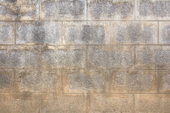Old concrete block wall Stock Photo