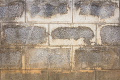 Old concrete block wall Stock Photography