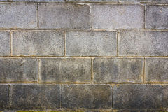 Old concrete block wall Royalty Free Stock Photos