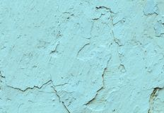 Old concrete blue  walls with cracks  background paint, workpiece for design, copy spase stock image