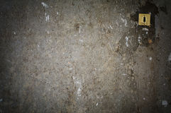 Old gray concrete wall with switcher Royalty Free Stock Photo