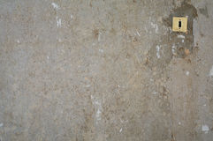 Old gray concrete wall with switcher Royalty Free Stock Photos