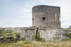 Old concrete bunker tower from WWII period Royalty Free Stock Photography