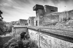 Old concrete bunker from WWII period. Totleben fort island Stock Images