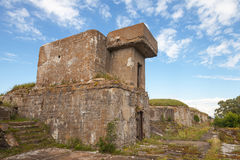 Old concrete bunker from WWII period Royalty Free Stock Image