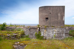 Old concrete bunker from WWII period Stock Photography