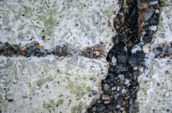 An old concrete covering with a furrow from water Royalty Free Stock Photography