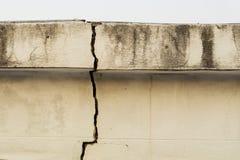 Old concrete crack Stock Photos