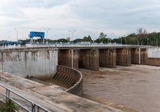 Old concrete dam. Stock Image