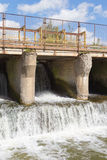 Old concrete dam Royalty Free Stock Images