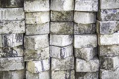 Old concrete fence background Stock Photo