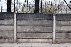 Old concrete fence. Of a factory Royalty Free Stock Photos