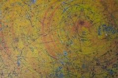 Old Concrete Floor Background. Yellow tone stock photography