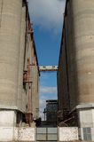 Old concrete grain elevator Royalty Free Stock Photos