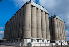 Old concrete grain elevator Stock Photography