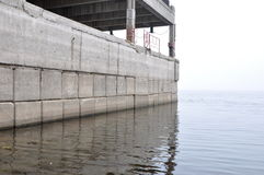 Old concrete jetty Stock Images