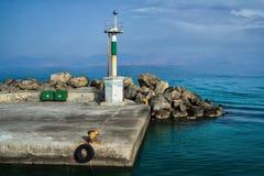 Old concrete Mastihari berth on Greek Kos island Stock Images