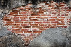 Old concrete  old brick wintage wall interior design Stock Photography