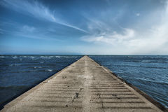 Old concrete pier Stock Photography