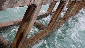 Old concrete pier. E in Thailand stock footage