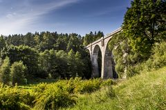 Free Old Concrete Railway Bridge In Stanczyki, Mazury, Poland Royalty Free Stock Image - 42975616