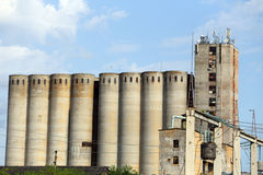 Old Concrete Silos Stock Images
