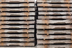 Old concrete sleepers Royalty Free Stock Photos