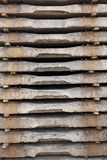 Old concrete sleepers Royalty Free Stock Images
