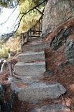 Old concrete staircase Stock Photo