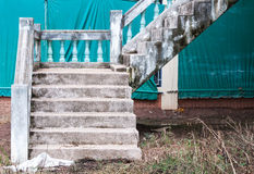 Old concrete staircase Royalty Free Stock Image