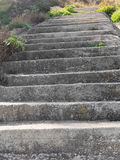 Old concrete steps on a hill side Royalty Free Stock Images