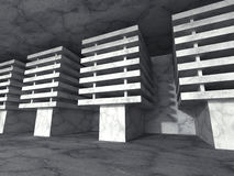 Old concrete textured abstract architecture construction backgro. Und. 3d render illustration Royalty Free Stock Image