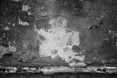 Old concrete wall with a bright spot in the middle. Grunge background Stock Image