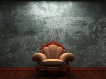 Old concrete wall and chair Royalty Free Stock Photography