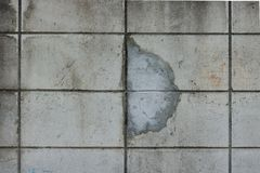 Old concrete wall crack repair Royalty Free Stock Image