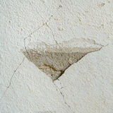 Old concrete wall with cracked. At outdoor Royalty Free Stock Image