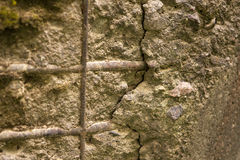 Old concrete wall with fittings Royalty Free Stock Photography
