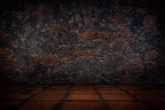 Old concrete wall and floor tiles. Stock Images