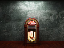Old concrete wall and jukebox Royalty Free Stock Images