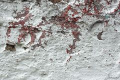 Old concrete wall with multi-layer shelled surface Royalty Free Stock Images