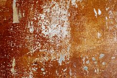 Old concrete wall with peeling paint royalty free stock photography